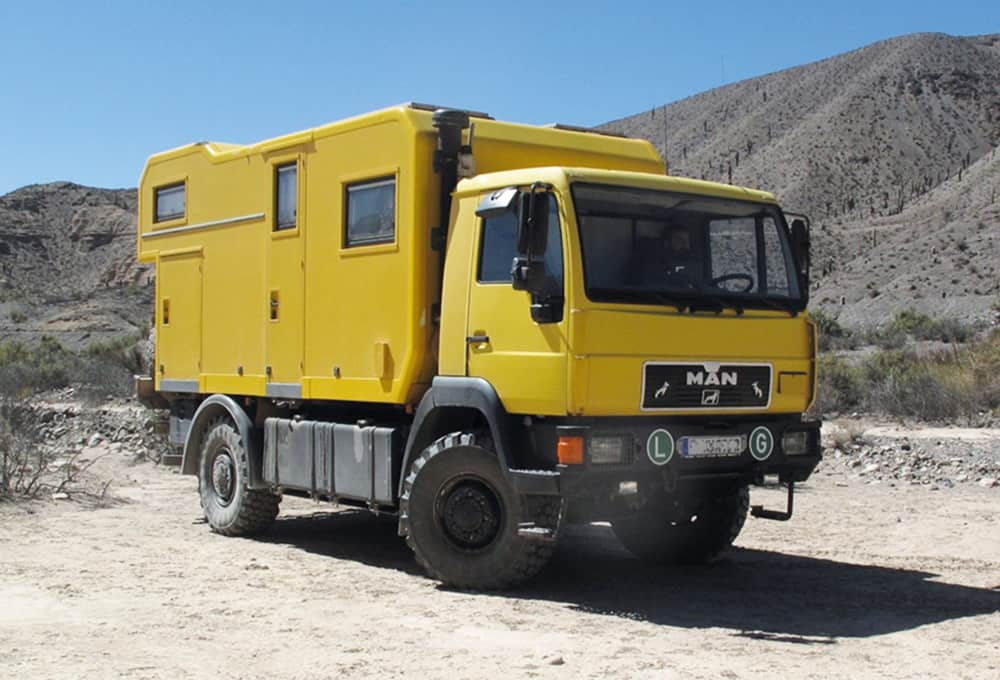 MAN expedition vehicle with heavy duty absorbers from Marquart