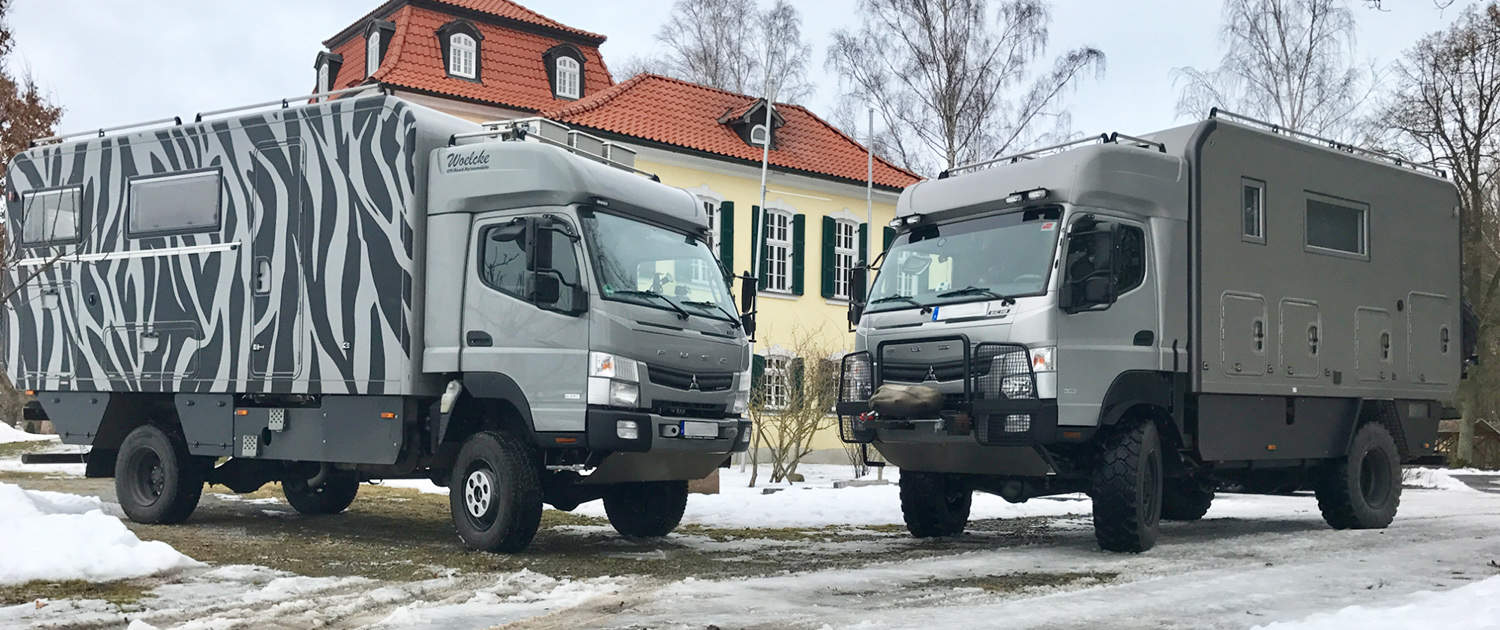 Fuso Canter with heavy duty shock absorbers
